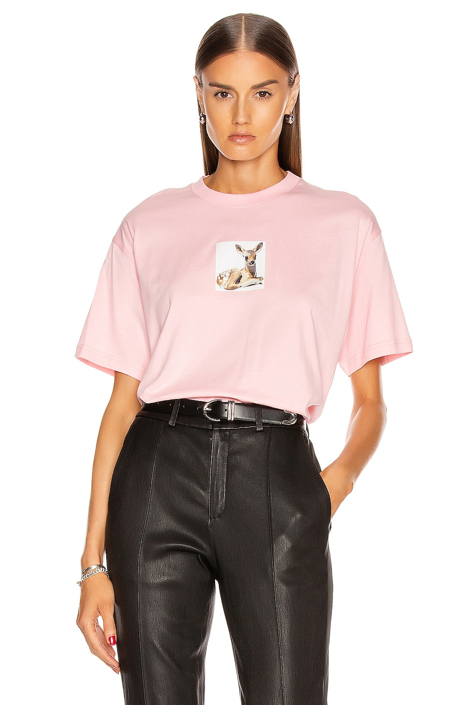 Image 1 of Burberry Devon T Shirt in Candy Pink