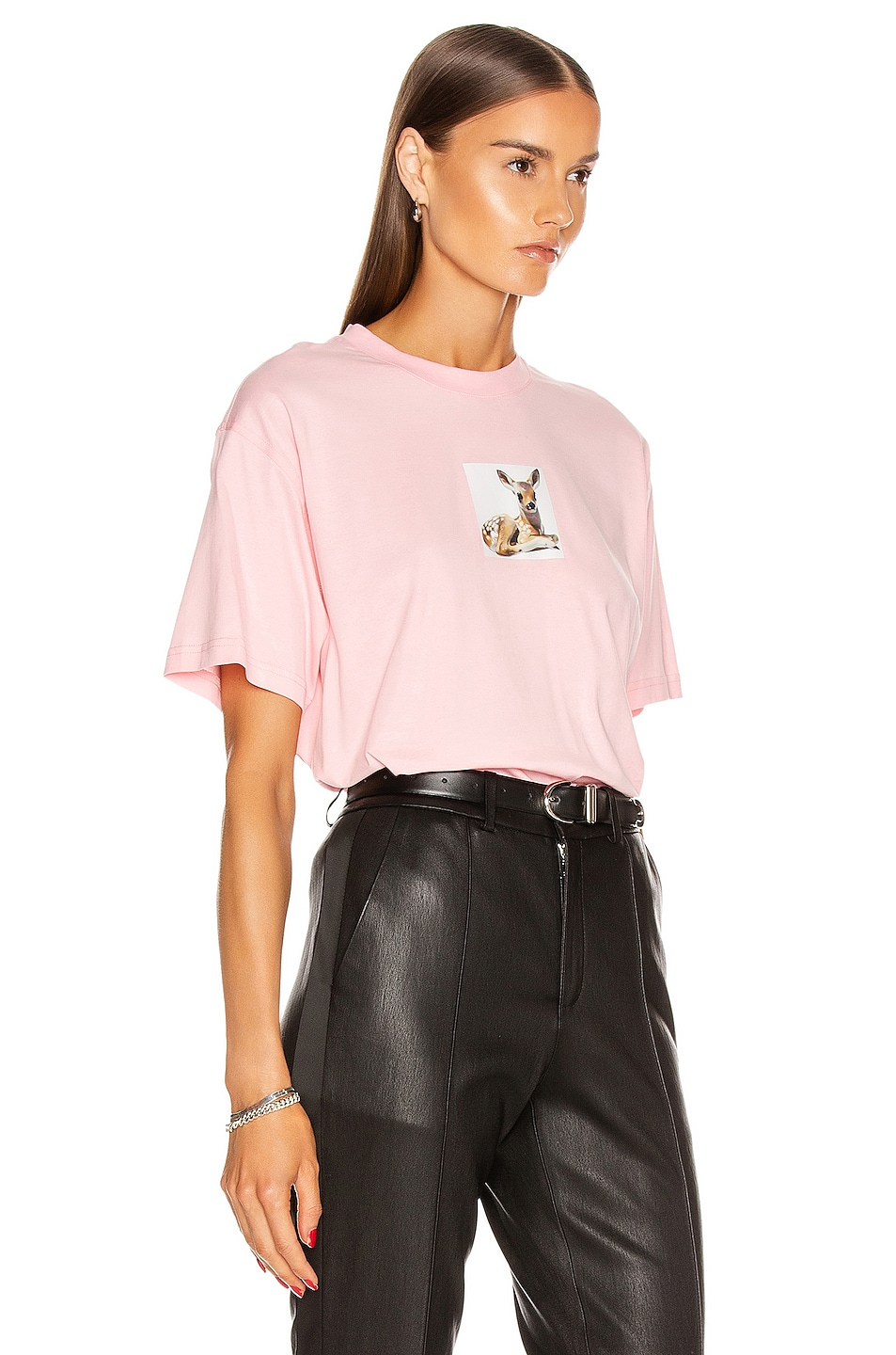 Image 2 of Burberry Devon T Shirt in Candy Pink