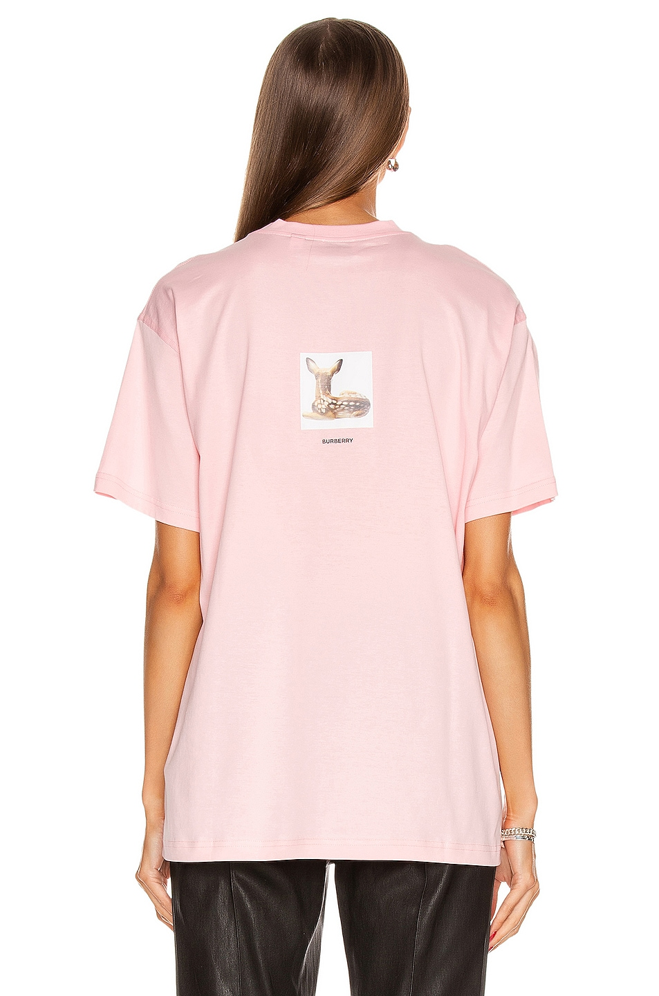 Image 3 of Burberry Devon T Shirt in Candy Pink