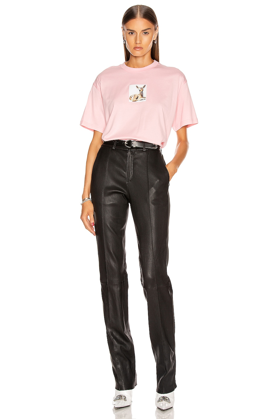 Image 4 of Burberry Devon T Shirt in Candy Pink