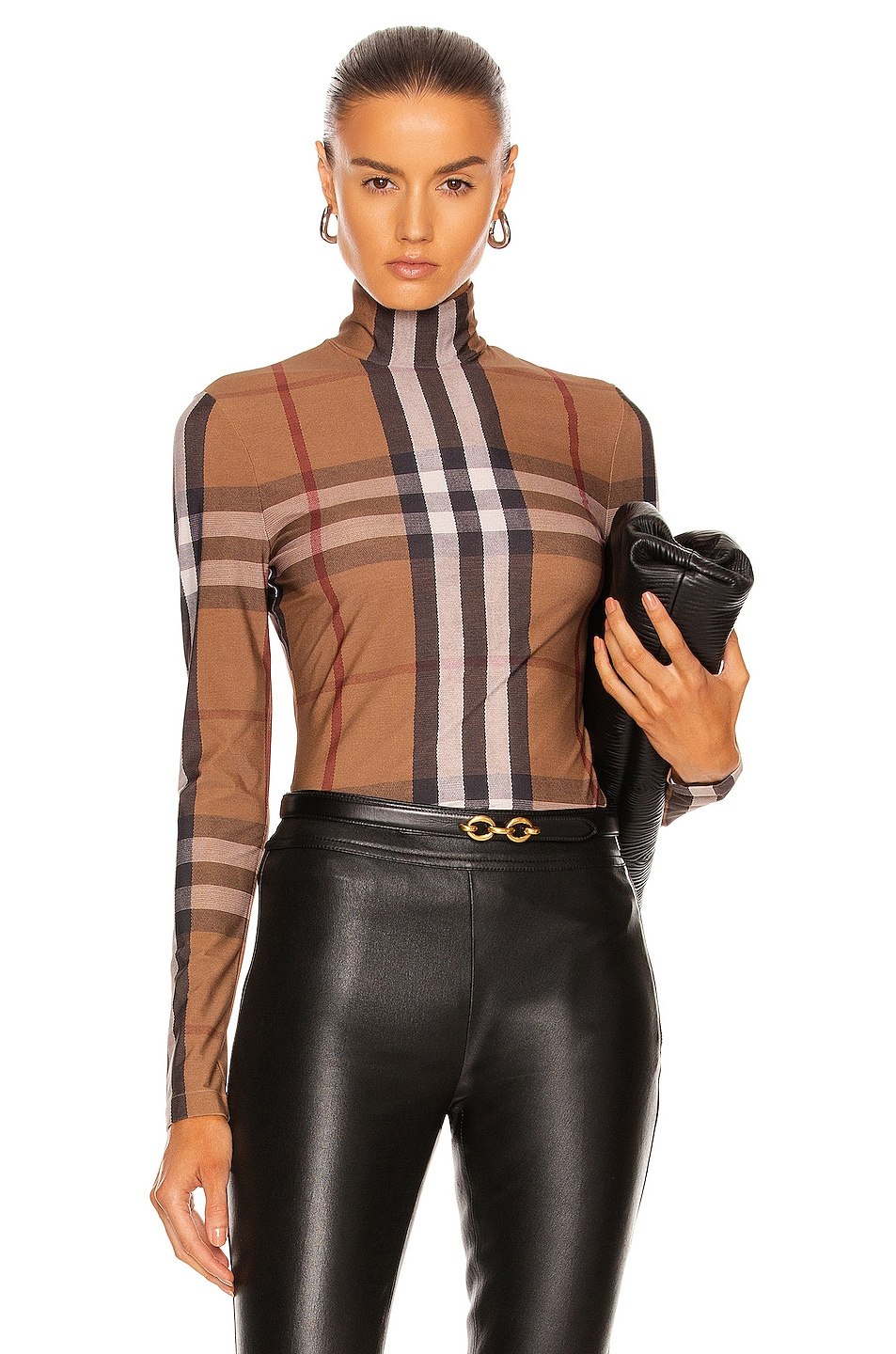 Image 1 of Burberry Emery Check Top in Birch Brown IP Check