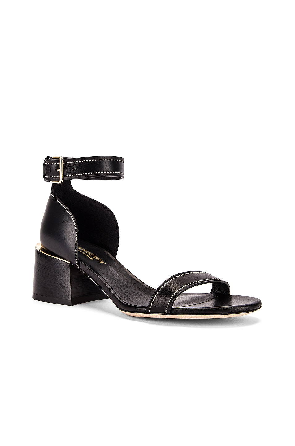 Image 2 of Burberry Attenby Sandals in Black