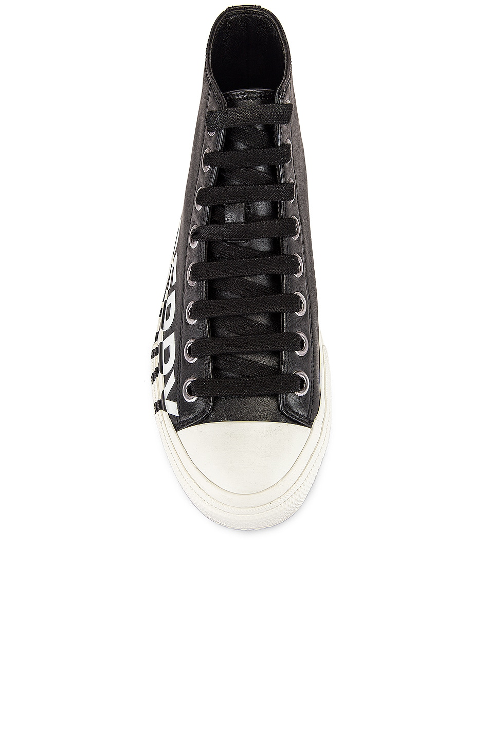 Image 4 of Burberry Larkhall Logo High Top Sneakers in Black