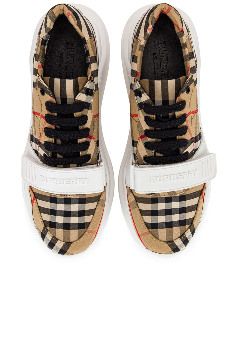 Image 1 of Burberry Regis Low Top Sneakers in Archive Beige