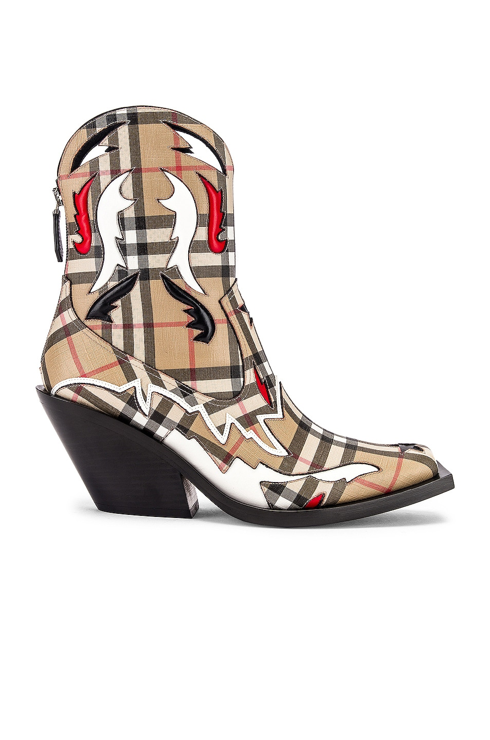 Image 1 of Burberry Matlock Cowboy Boots in Check