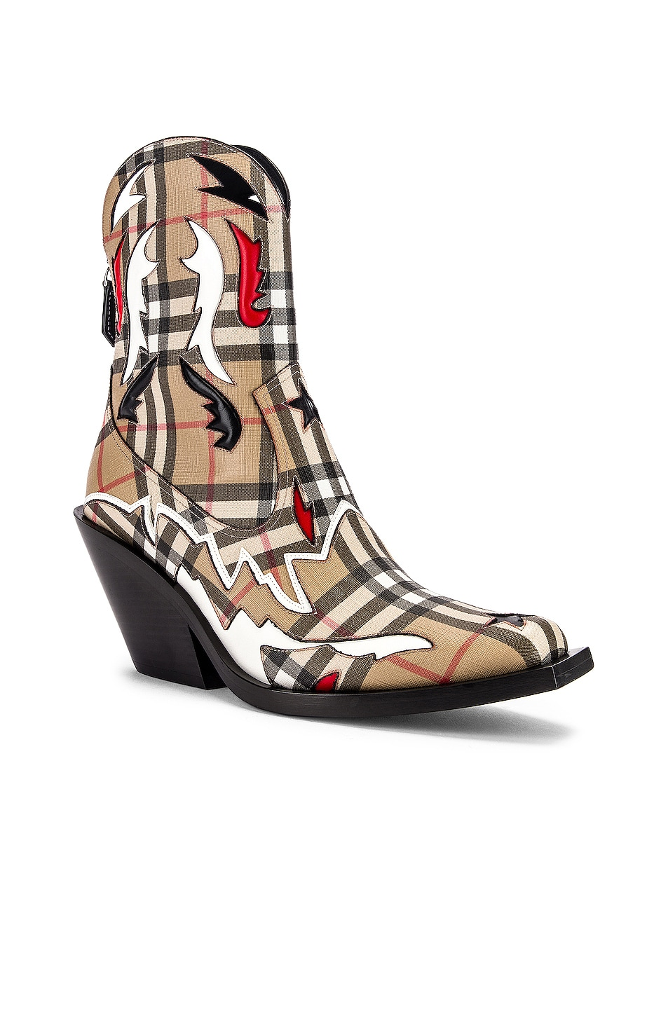 Image 2 of Burberry Matlock Cowboy Boots in Check