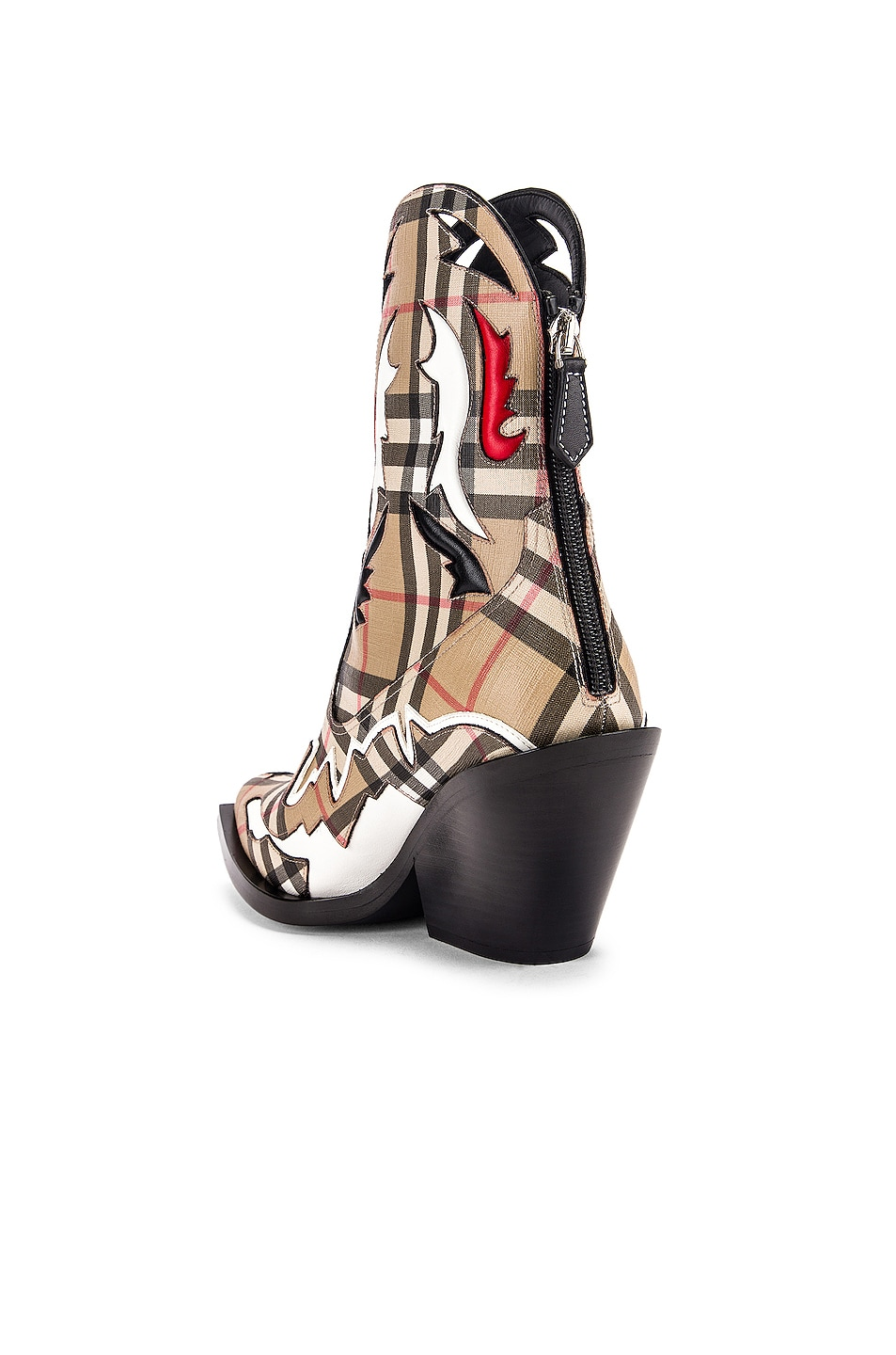 Image 3 of Burberry Matlock Cowboy Boots in Check