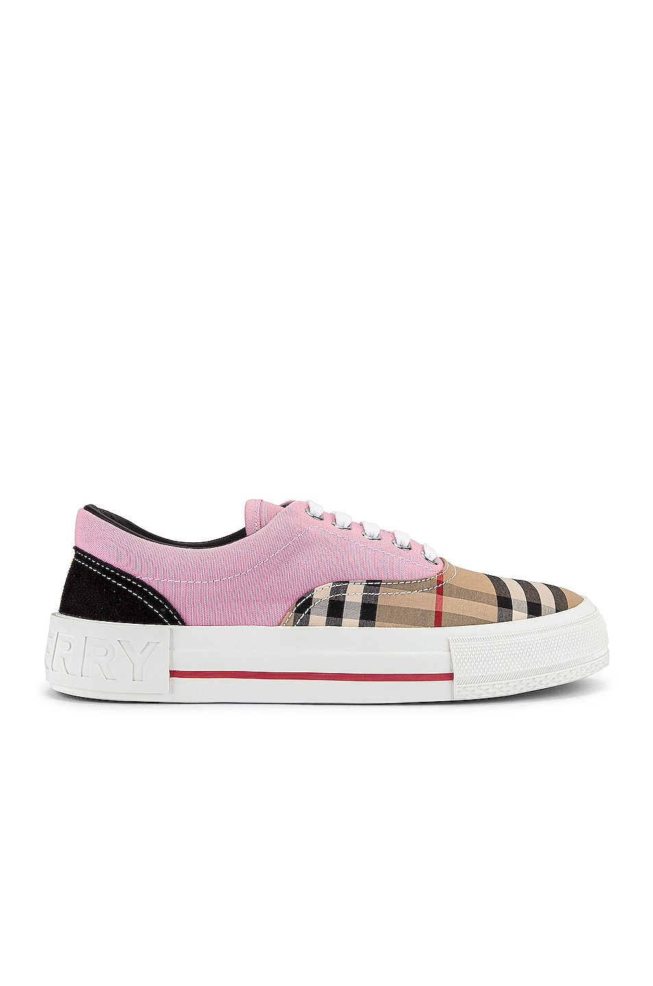 Image 1 of Burberry Skate Low Top Sneakers in Pink