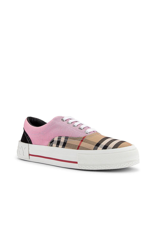 Image 2 of Burberry Skate Low Top Sneakers in Pink