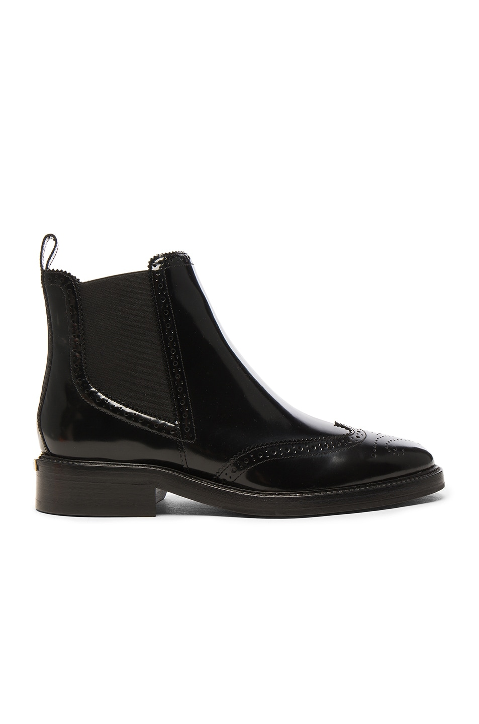 Image 1 of Burberry Leather Bactonul Boots in Black