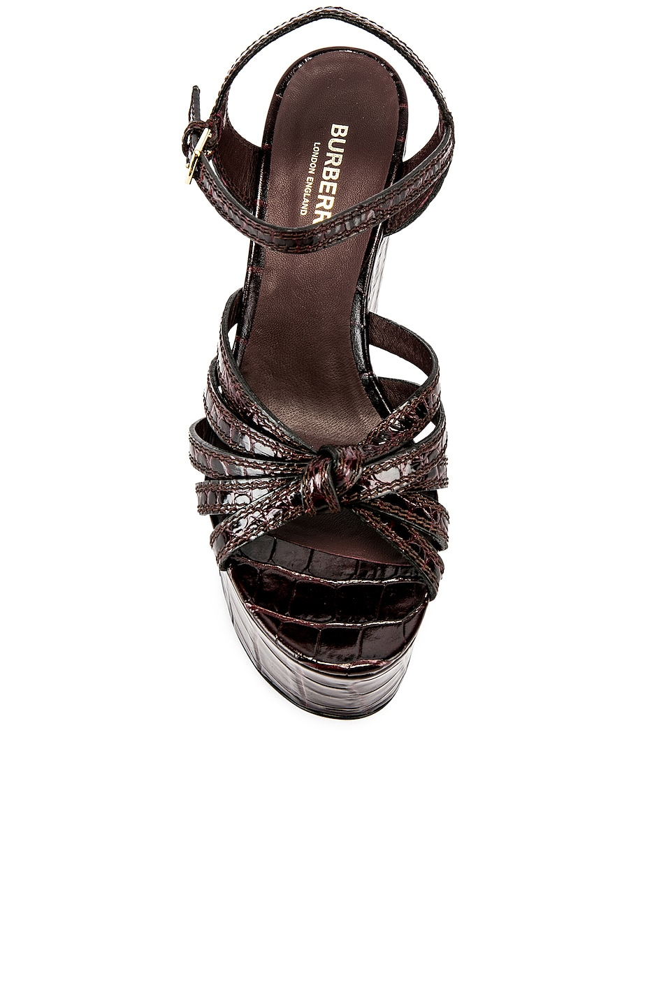 Image 4 of Burberry Margate Wedges in Bordeaux