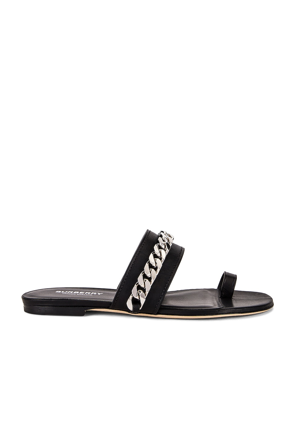Image 1 of Burberry Heidi Chain Sandals in Black