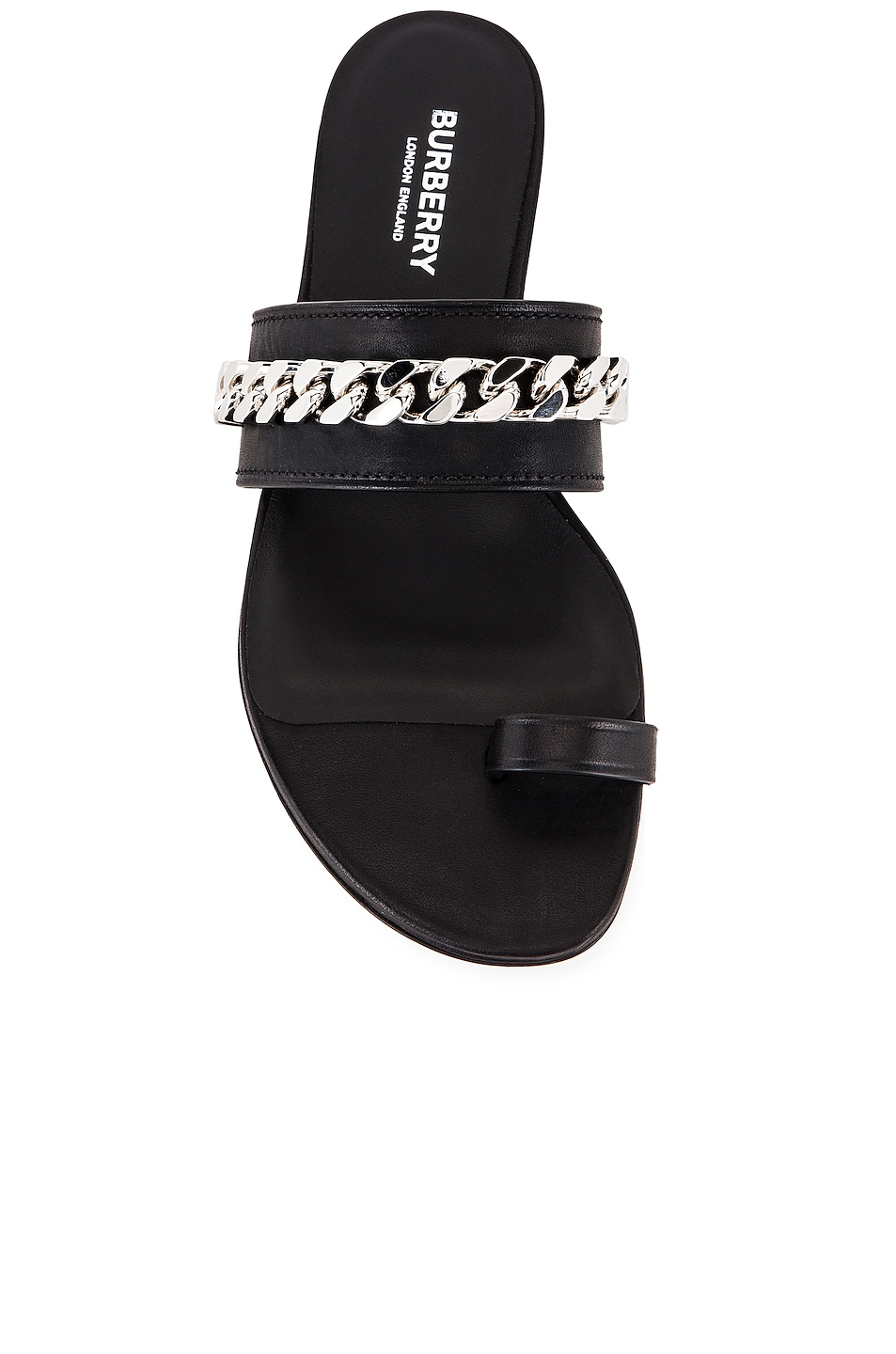 Image 4 of Burberry Heidi Chain Sandals in Black