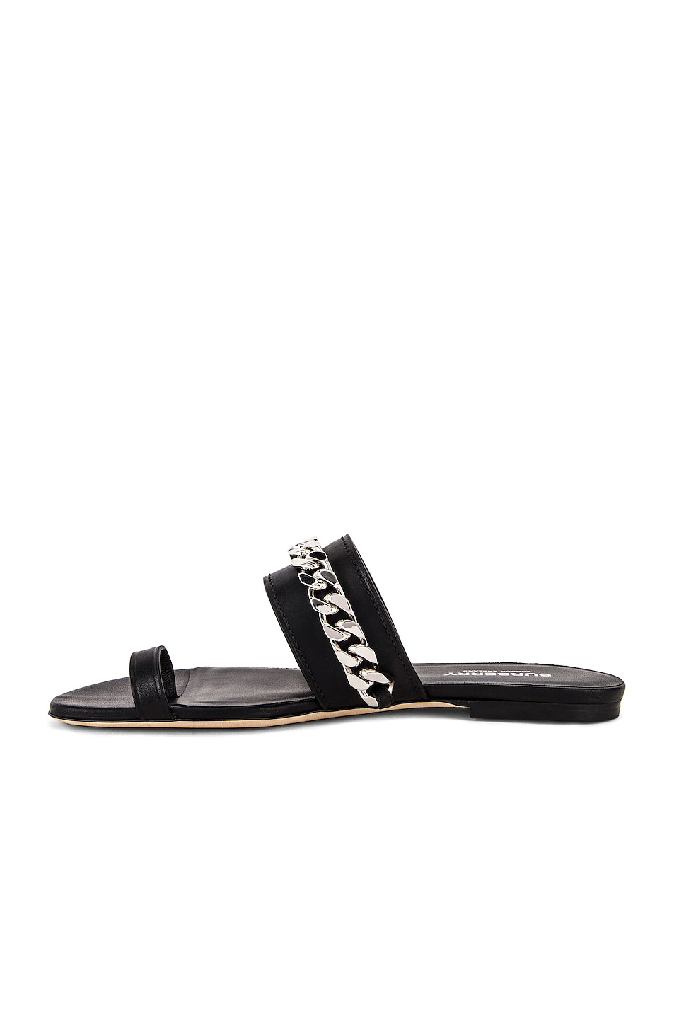 Image 5 of Burberry Heidi Chain Sandals in Black