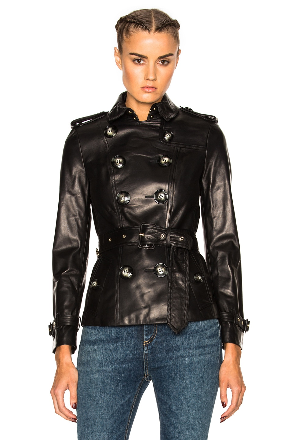 Image 1 of Burberry London Fairlie Slim Fit Trench Jacket in Black