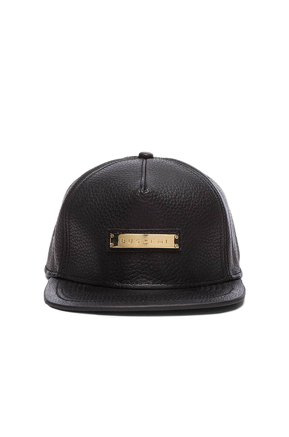 Image 1 of Buscemi Screwback Hat in Black