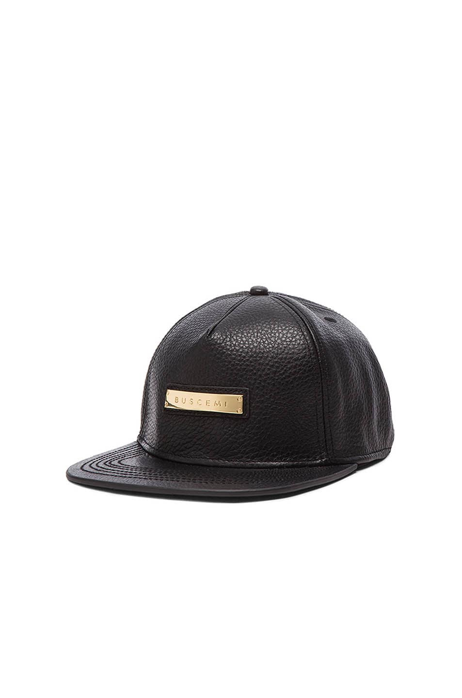 Image 2 of Buscemi Screwback Hat in Black