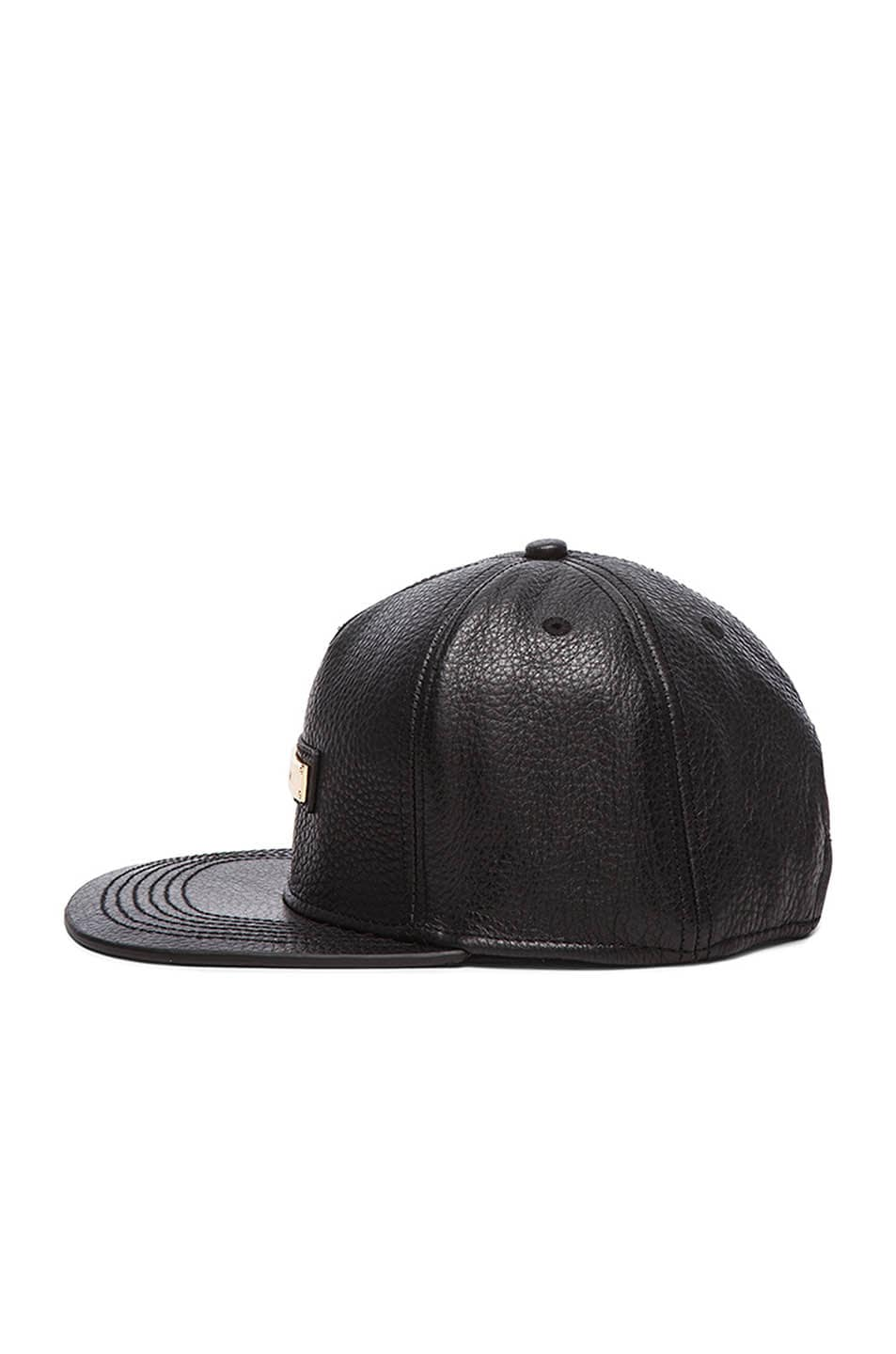 Image 3 of Buscemi Screwback Hat in Black