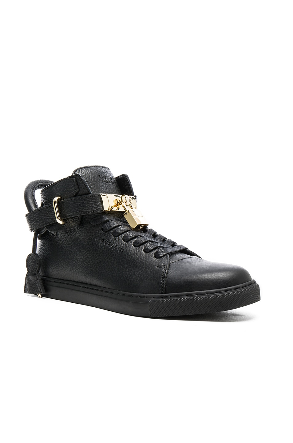 BUSCEMI Padlock Detail Hi-Tops in Black