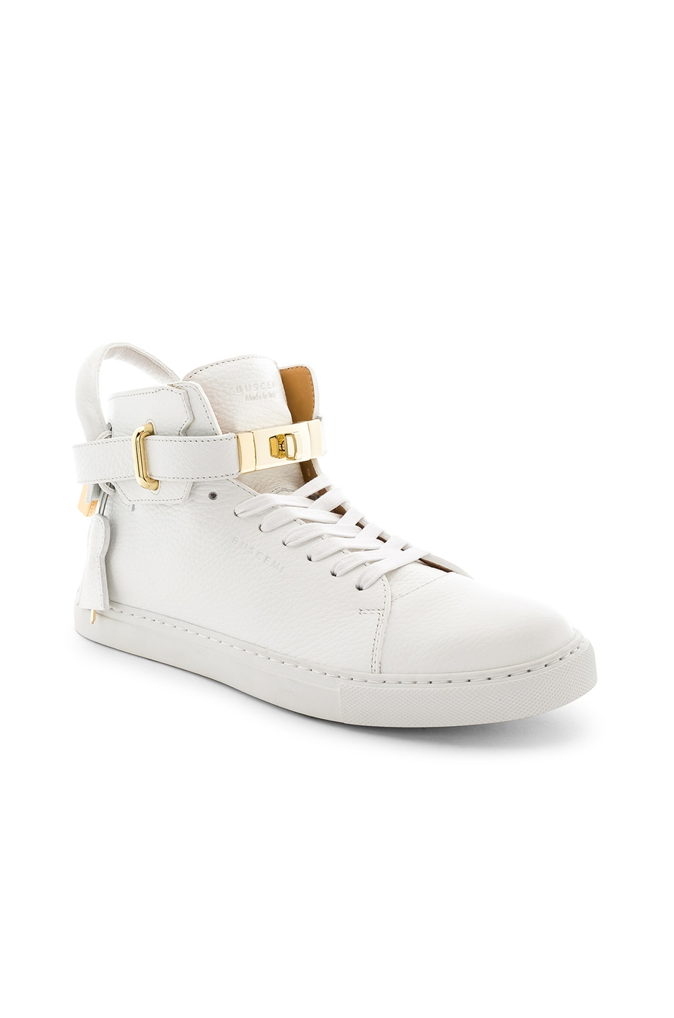 BUSCEMI 100 MM High Top Leather Sneakers in . s25envt
