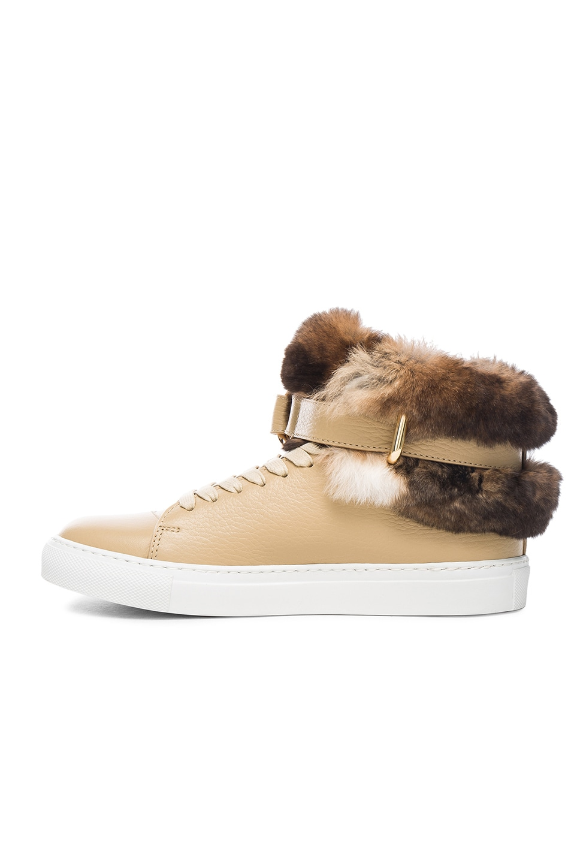 Buscemi 100MM Rabbit Fur Sneakers clearance finishline xoIoK2YATR