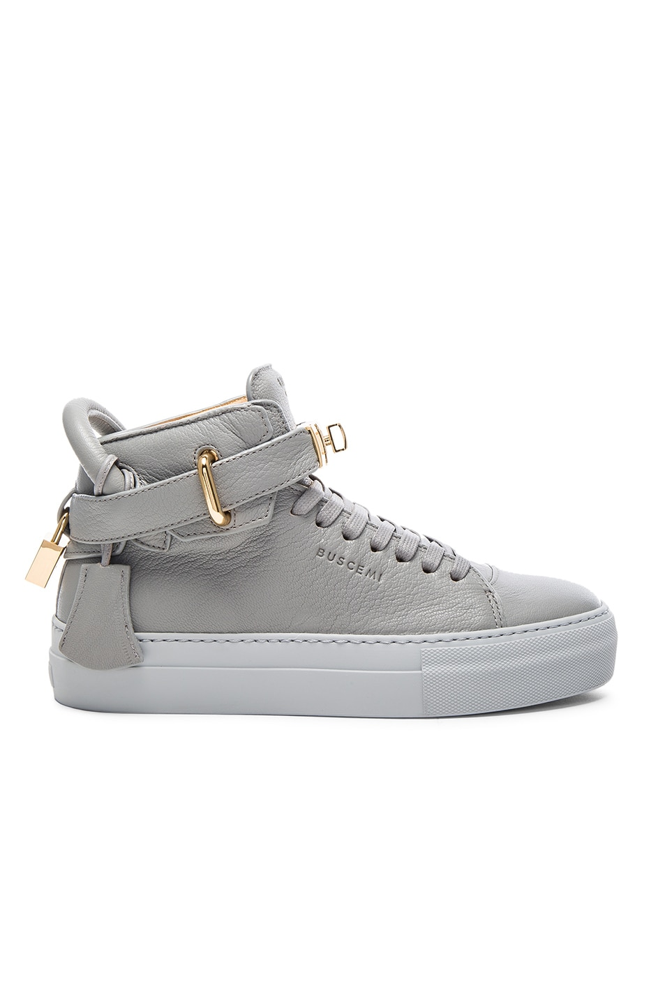 Image 1 of Buscemi 100MM Leather Sneakers in Light Grey