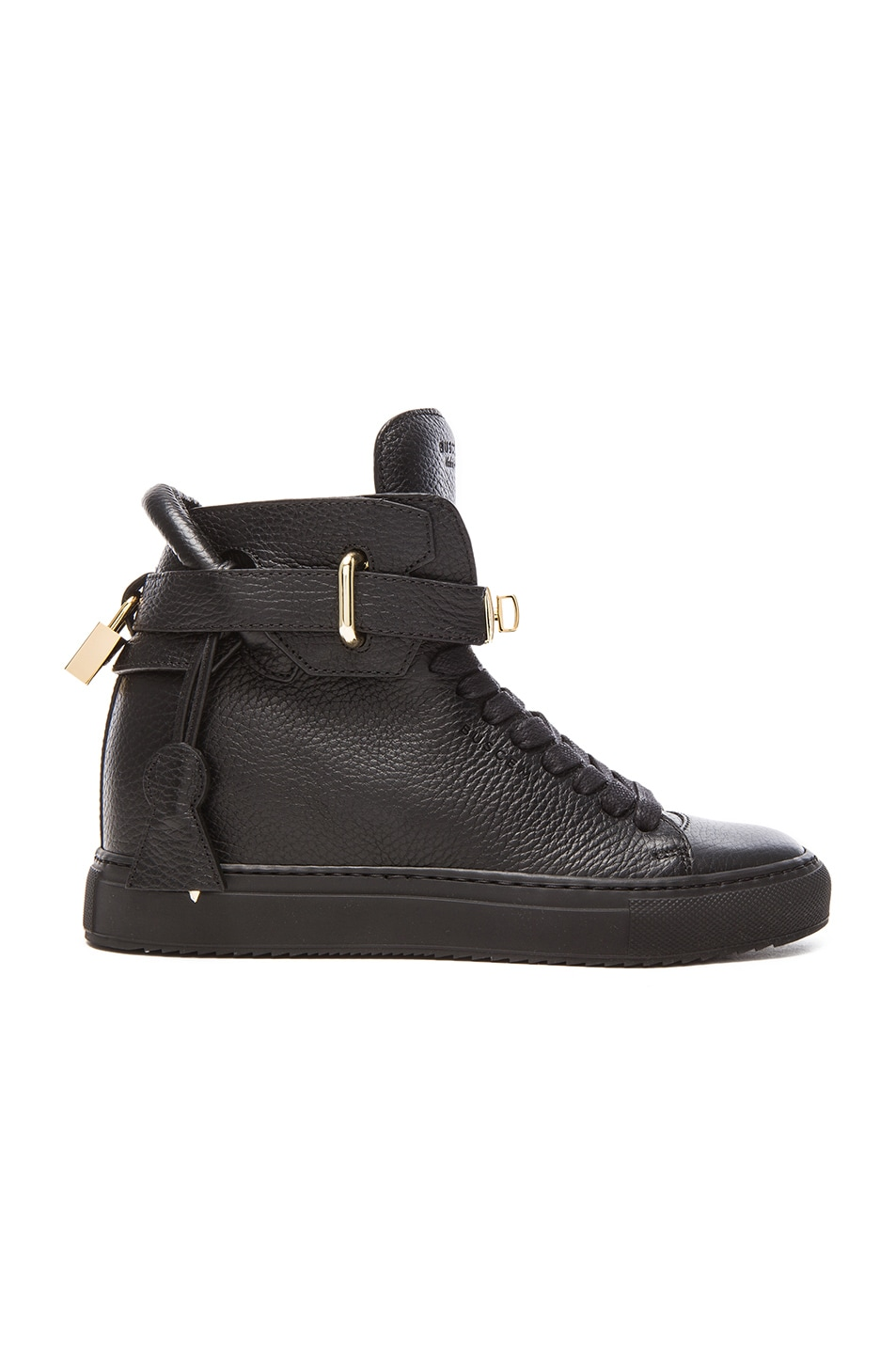 67c2fe46722 Image 1 of Buscemi 100MM Leather Alta in Black