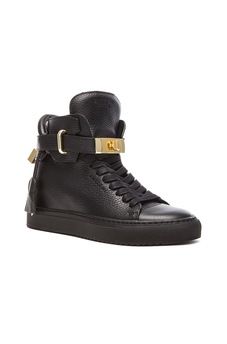 Image 2 of Buscemi 100MM Leather Alta in Black