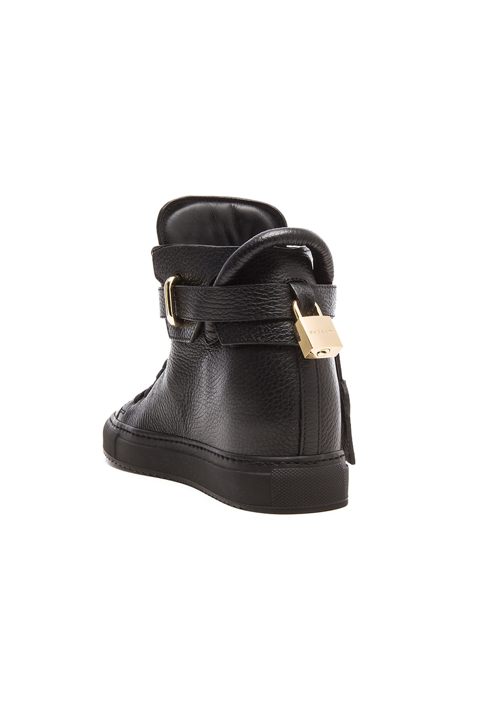 Image 3 of Buscemi 100MM Leather Alta in Black