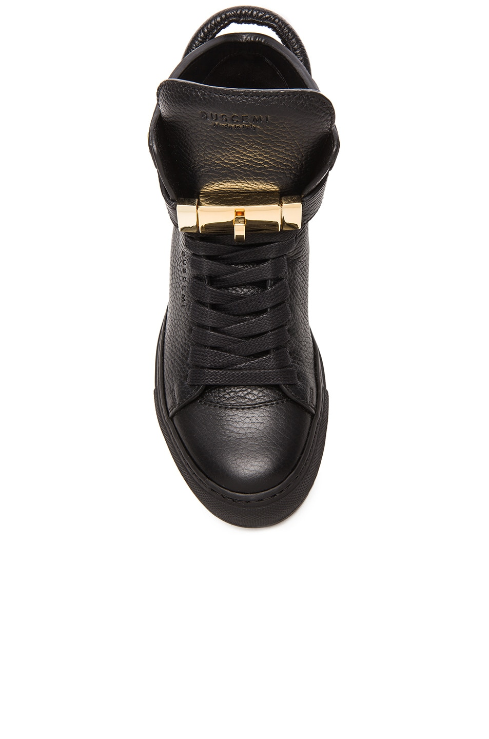 Image 4 of Buscemi 100MM Leather Alta in Black