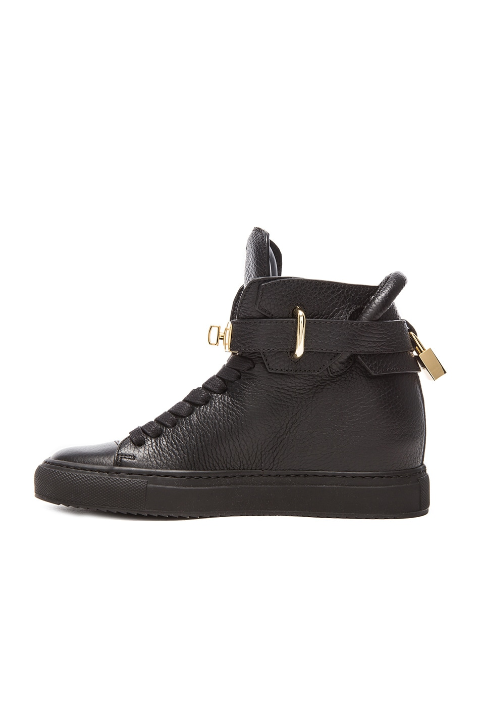 Image 5 of Buscemi 100MM Leather Alta in Black