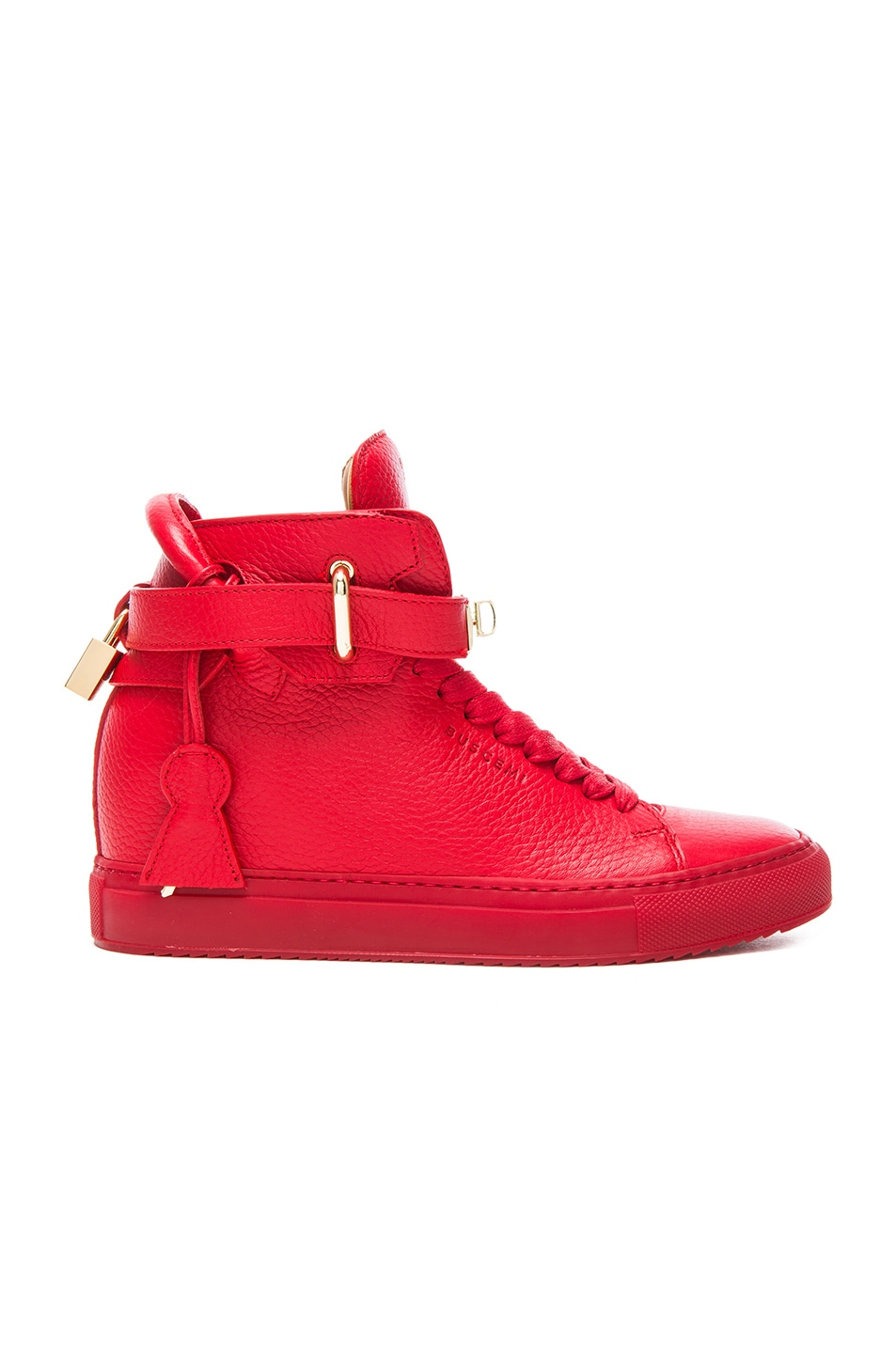 Image 1 of Buscemi 100MM Leather Alta in Red