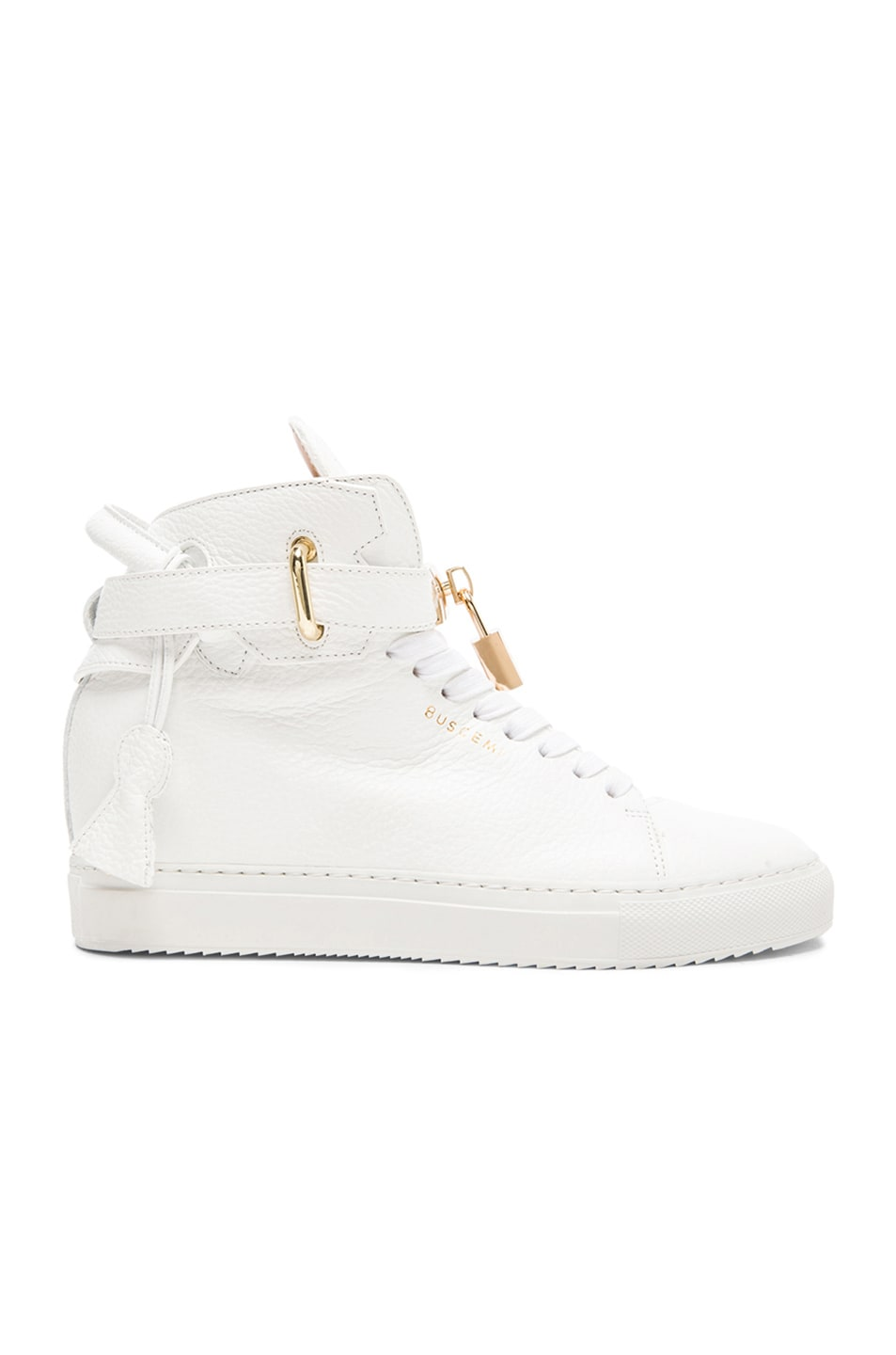 Image 1 of Buscemi 100MM Leather Alta in White