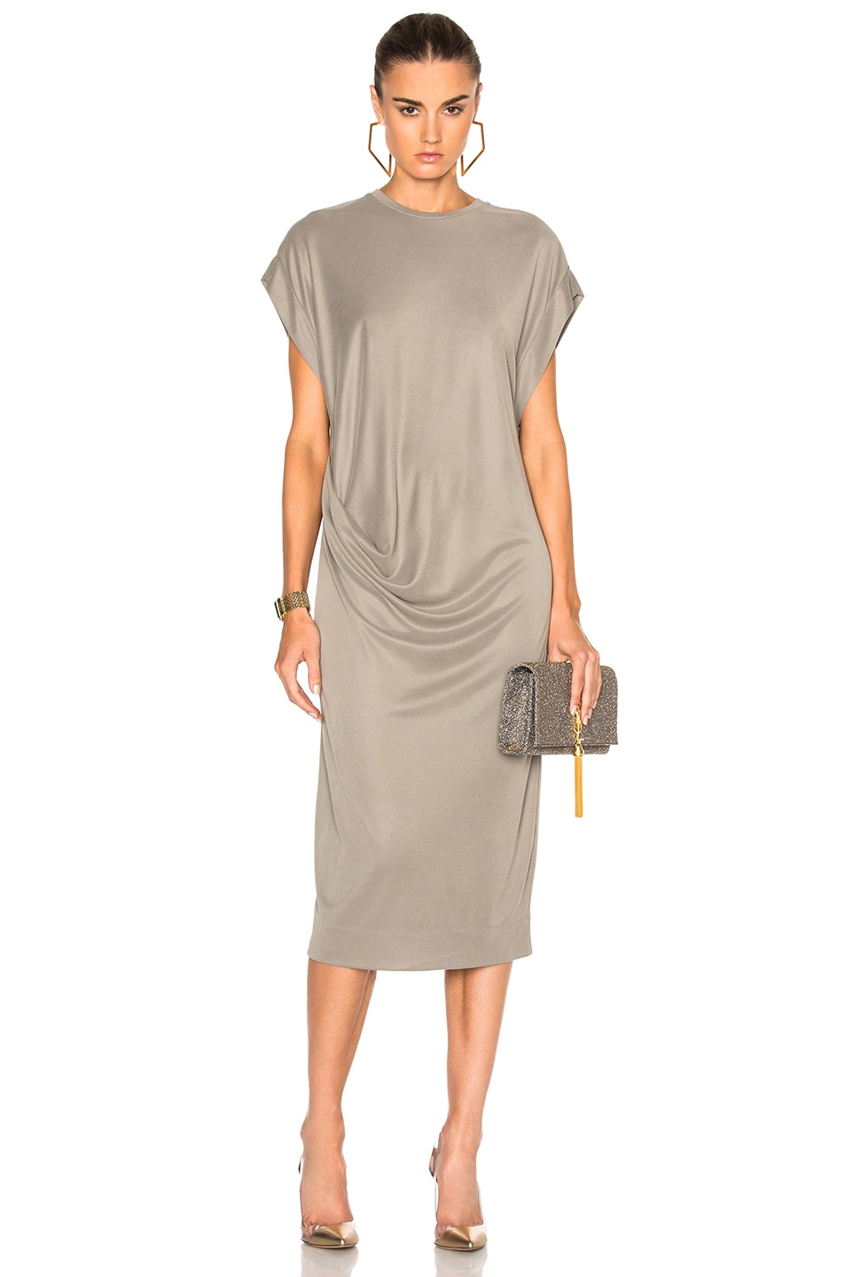 Image 1 Of By Malene Birger Pioneer Dress In Exotic Green
