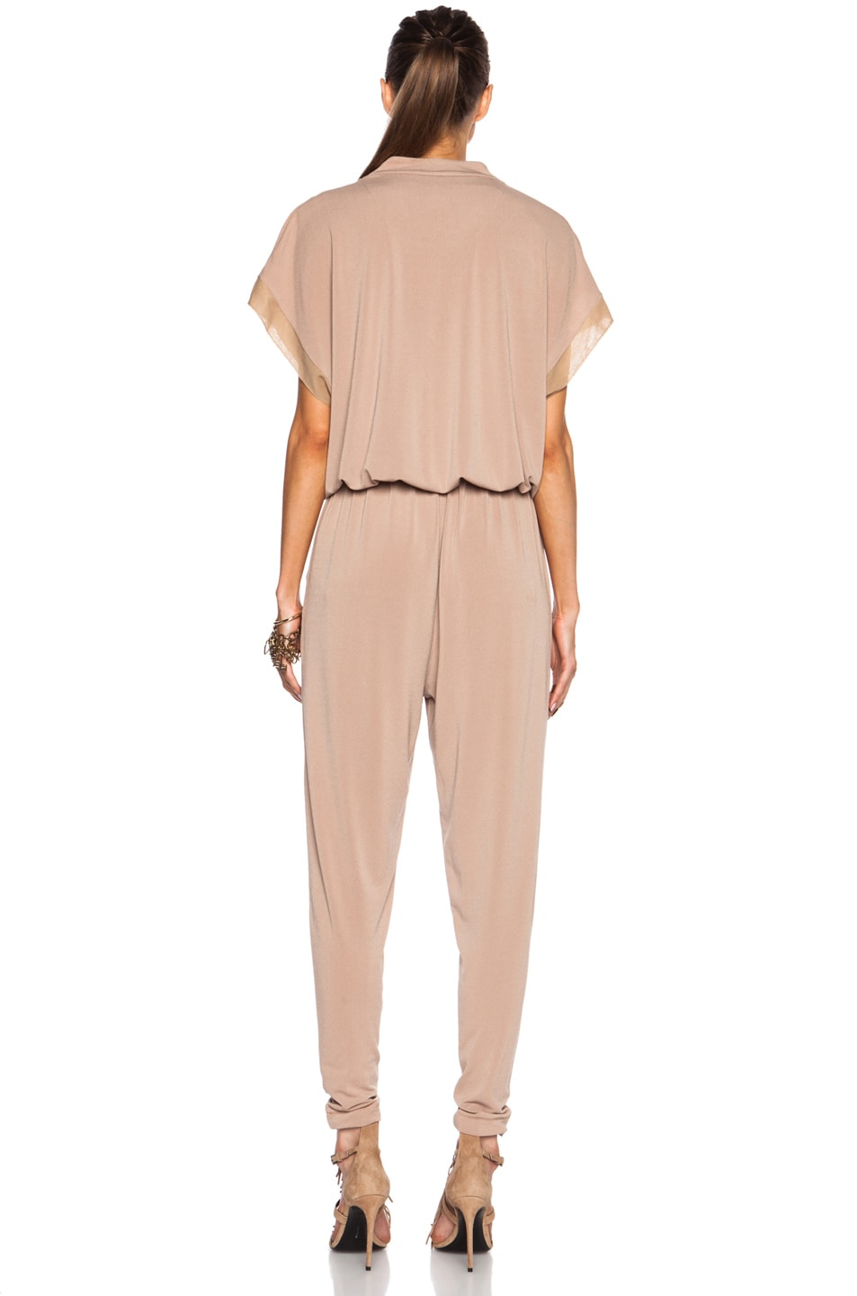 Image 4 of By Malene Birger Isina Poly-Blend Jumpsuit in Cafe Latte