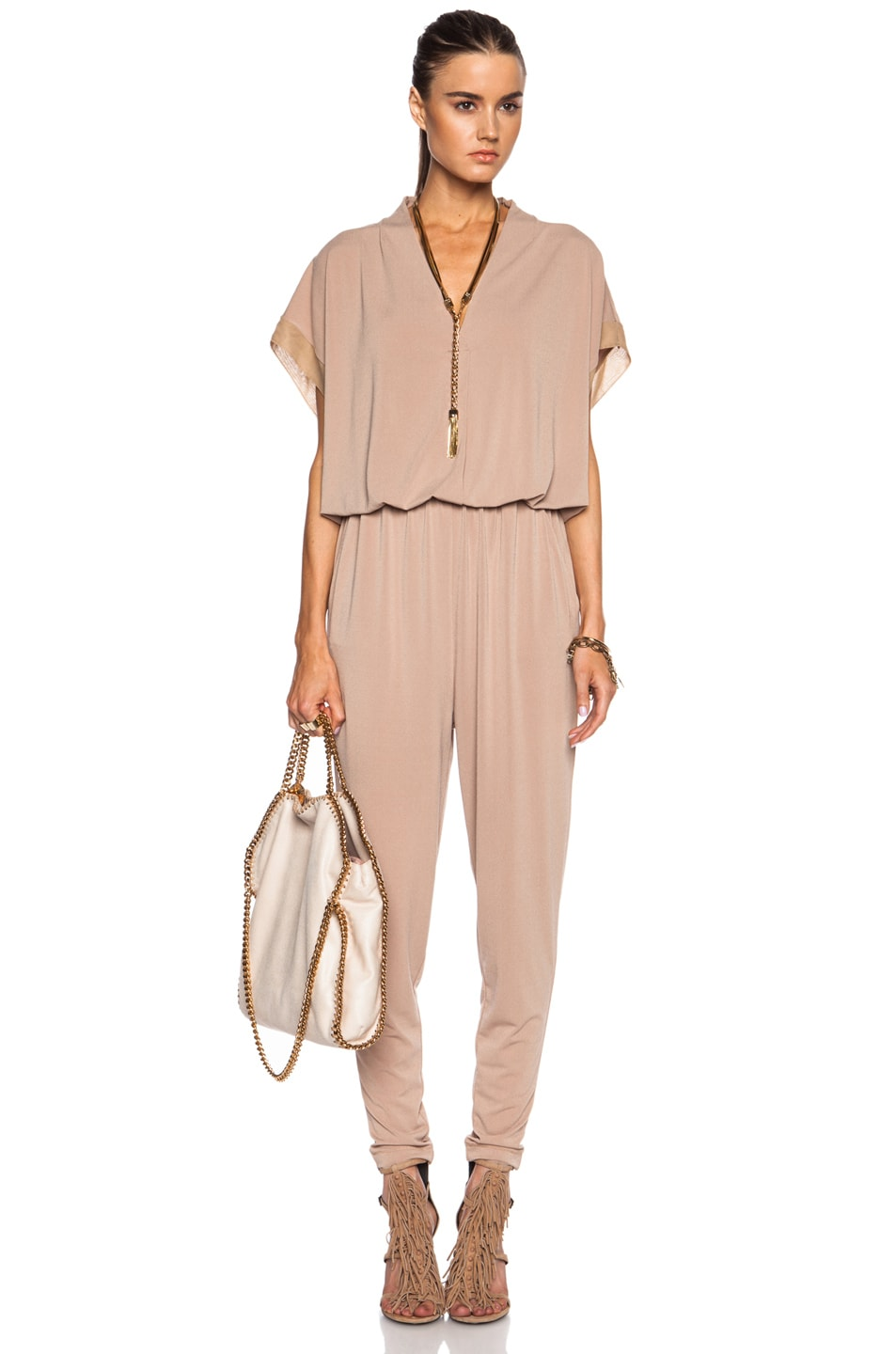 Image 5 of By Malene Birger Isina Poly-Blend Jumpsuit in Cafe Latte