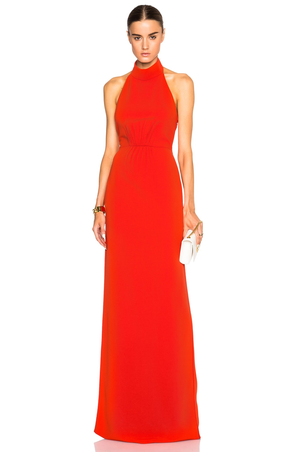 Image 1 of Calvin Klein Collection Feya Stretch Matt Cady Dress in Fire