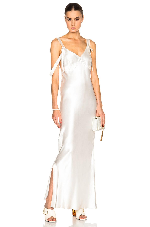 Calvin Klein Collection Gelder Evening Dress in Porcelain | FWRD