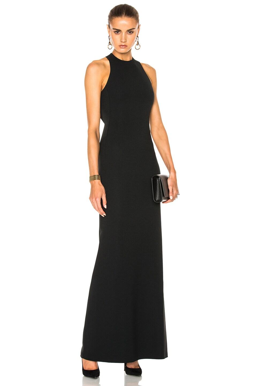 Calvin Klein Collection Kaye Long Cross Back Evening Dress in Black ...