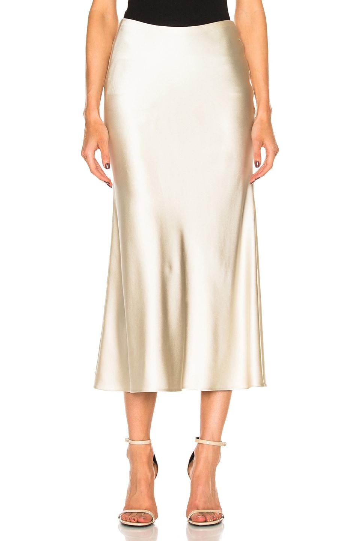 51ba675633 Image 1 of Calvin Klein Collection Kristina Silk Satin Skirt in Mica