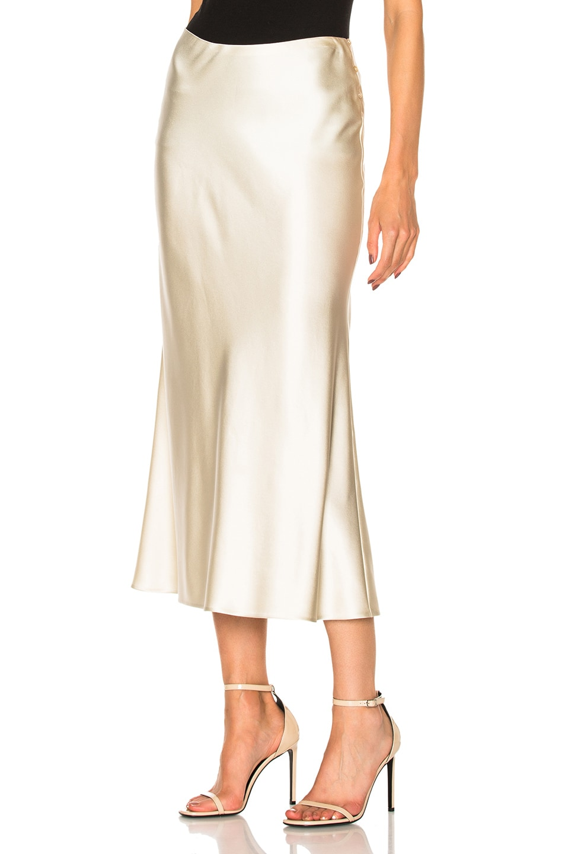 7a9fe208f2 Image 2 of Calvin Klein Collection Kristina Silk Satin Skirt in Mica