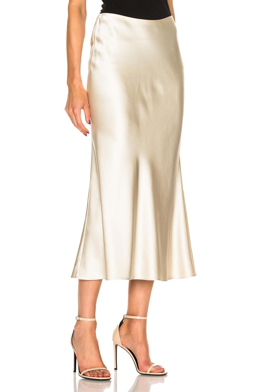 11a2ebcfbe Image 3 of Calvin Klein Collection Kristina Silk Satin Skirt in Mica