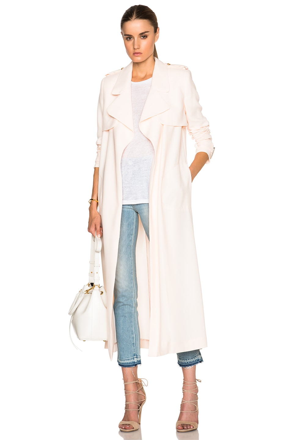 Image 1 of camilla and marc Antidote Trench Coat in Blush