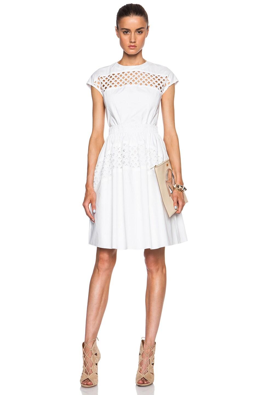 Image 1 Of Carven Hemsching Dress In White