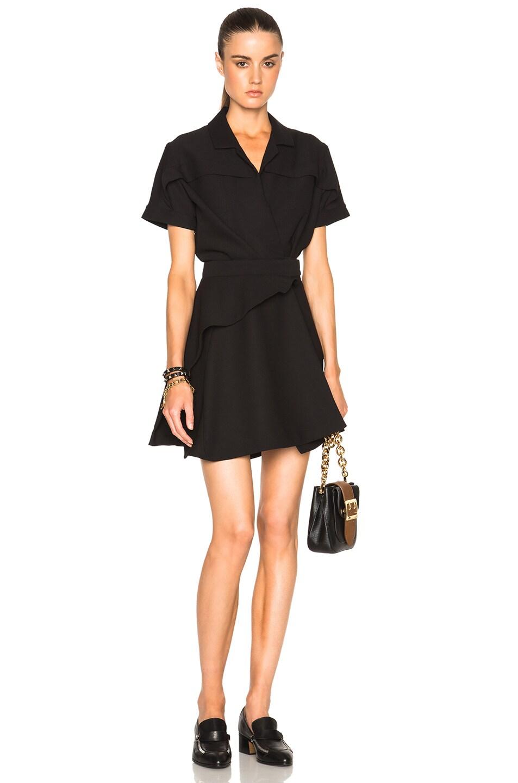 Image 1 of Carven Crepe Dress in Black