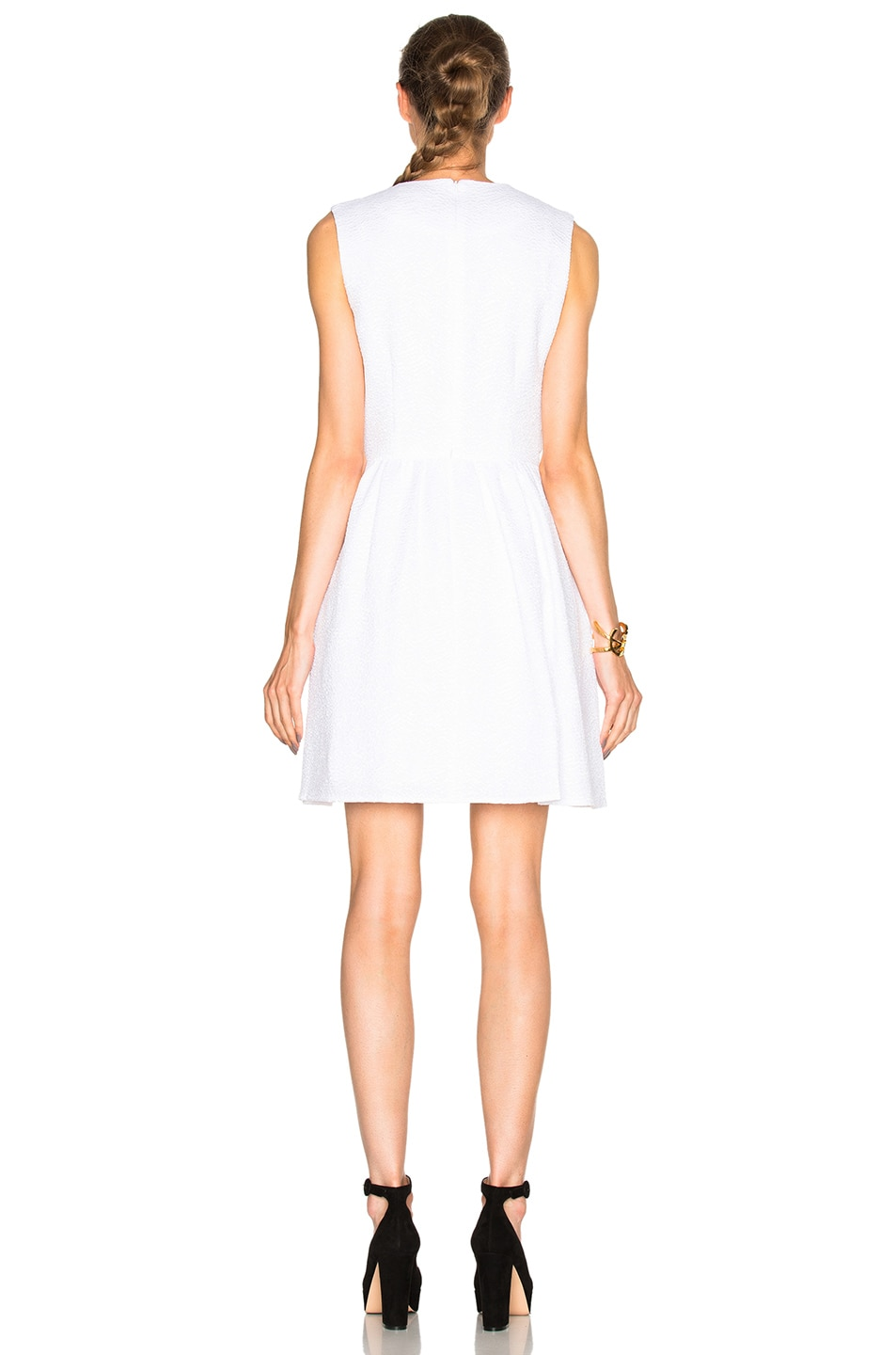 Image 4 of Carven Draped Dress in White