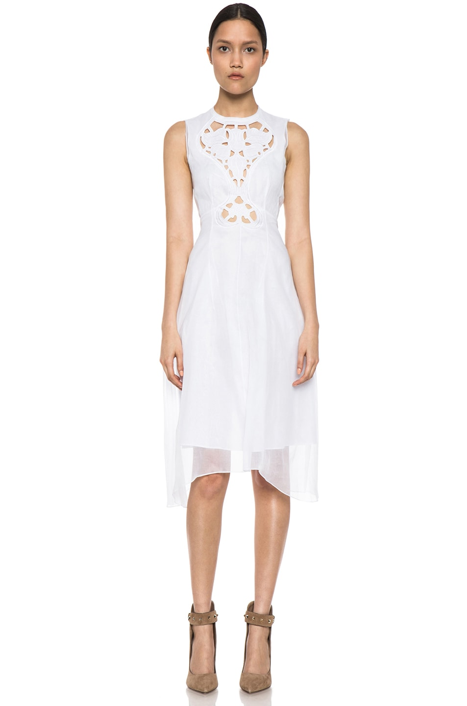 Image 1 of Carven Organza Dress in White