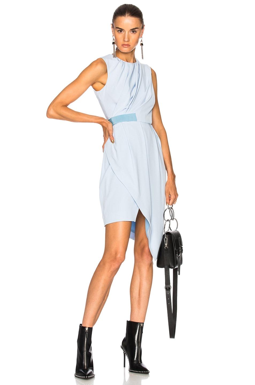 Carven Drape Dress in Blue