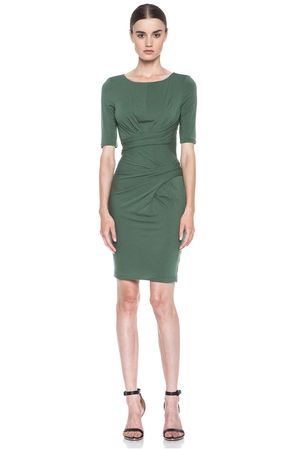 Image 1 of Carven Wool Jersey Dress in Green