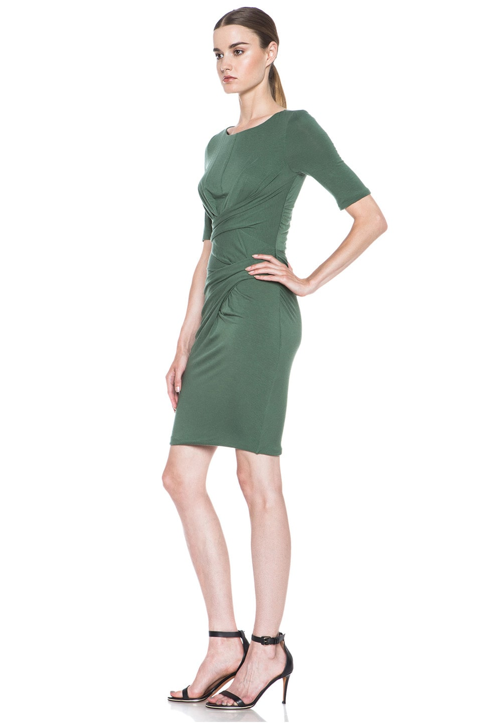 Image 2 of Carven Wool Jersey Dress in Green